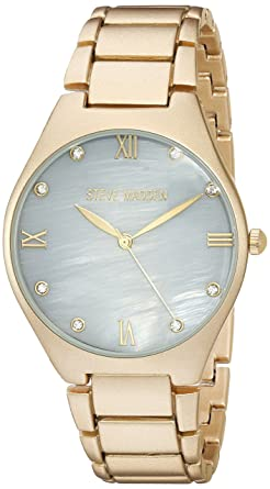 ad76b812802 Amazon.com  Steve Madden Women s Japanese-Quartz Watch with Alloy ...