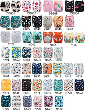 One Microfiber Insert Babygoal Cloth Diaper One Size Adjustable Washable for Baby Girls and Boys One Pack NK01-CA