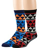 Men's Dress Crew Socks - Assorted Patterns and Colors - By Bond St.