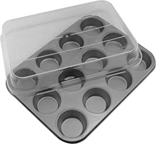 product image for G & S Metal Products Company Signature Commercial Grade Nonstick Covered 12 Cup Muffin Baking Pan, 14.1'' x 11.1'', Gray