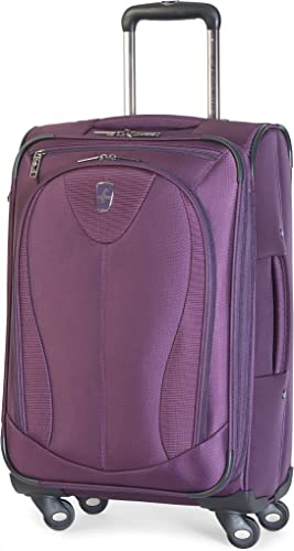 Atlantic Luggage Ultra Lite 3 21 Expandable Spinner, Purple, One Size
