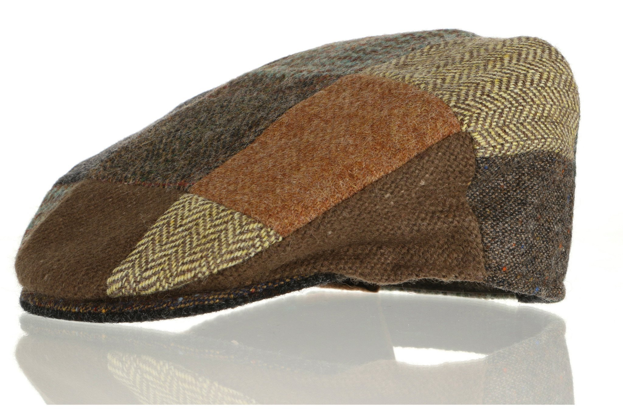 Hanna Hats Vintage Tweed Children's Irish Brown Patchwork Cap (Small)
