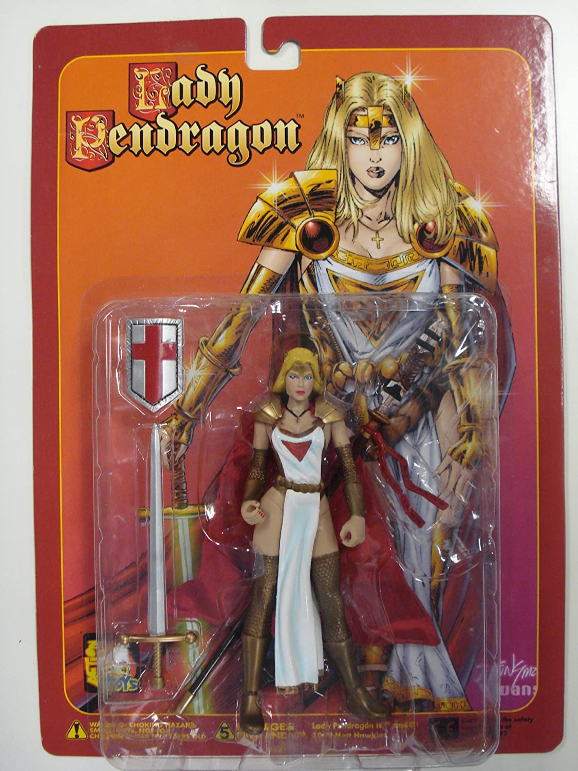 Lady Pendragon PRIESTESS, Variant or or or Regular Edition, 6 1/2 Poseable Action Figure with Sword, Spear and Shield by Lady Pendragon c24e4a