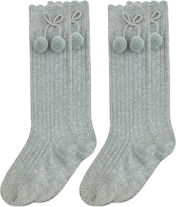 Jefferies Socks Little Girls Seamless Pom Ped Socks Pack of 3