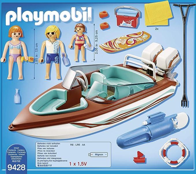 PLAYMOBIL- Lancha Motor Submarino Juguete, Multicolor (geobra ...