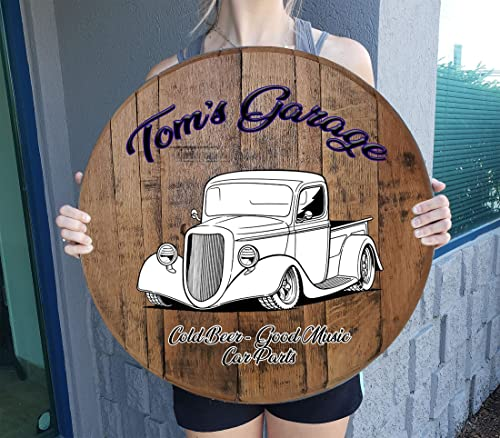 Rustic Wall Decor Personalized Custom Classic Muscle Car Truck Gift Man Cave Bar Sign