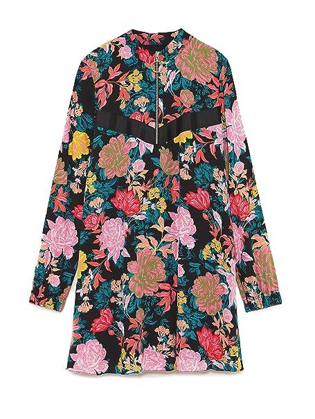 Zara - Vestido - para mujer multicolor L