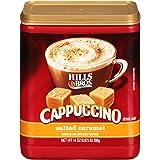 HILLS BROS 速溶卡布奇诺混合,咸焦糖卡布奇诺混合 - 易于使用和方便,享受家里的咖啡馆风味 - 卡布奇诺奶油焦糖和盐 14盎司(396g)