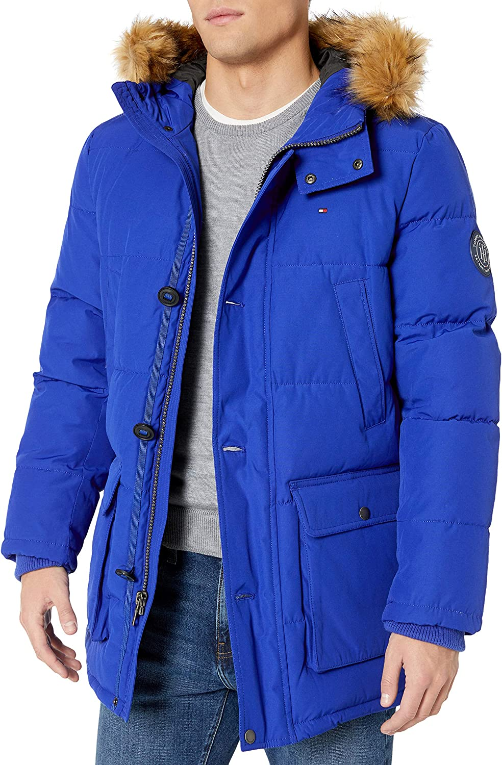 Tommy Hilfiger Mens Arctic Cloth Full Length Quilted Snorkel Jacket Regular and Big and Tall Sizes