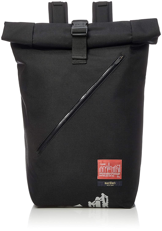 [マンハッタンポーテージ] バックパック 公式 Manhattan Portage × narifuri Hillside Backpack MP1253NARIFURI  ブラック B07JW325J2