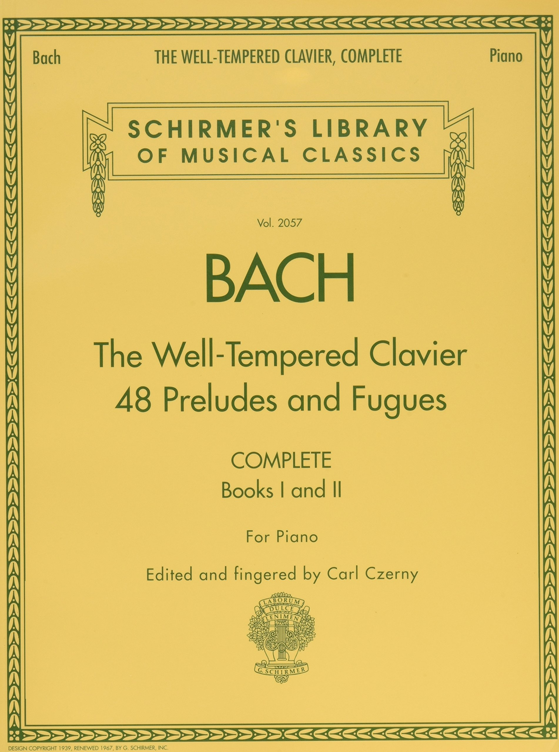 Download The Well-Tempered Clavier, Complete: Schirmer Library of Musical Classics, Volume 2057 (Schirmer's Library of Musical Classics) PDF