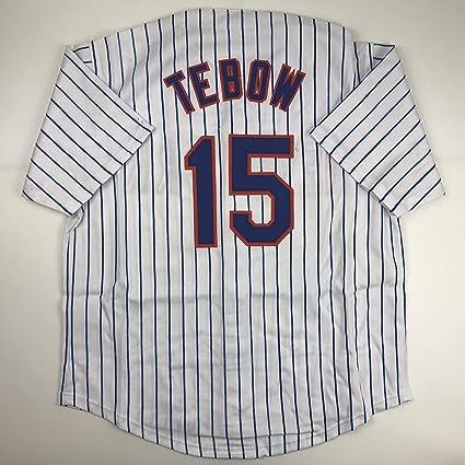 watch 7236c cabd6 Unsigned Tim Tebow New York Pinstripe Custom Stitched ...