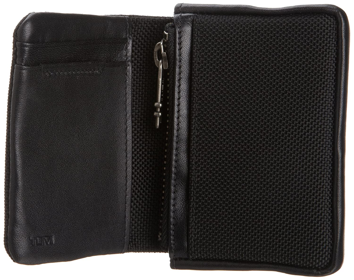 Amazon.com: Tumi Men\'s Bravo Compact Wallet, Black, One Size: Clothing