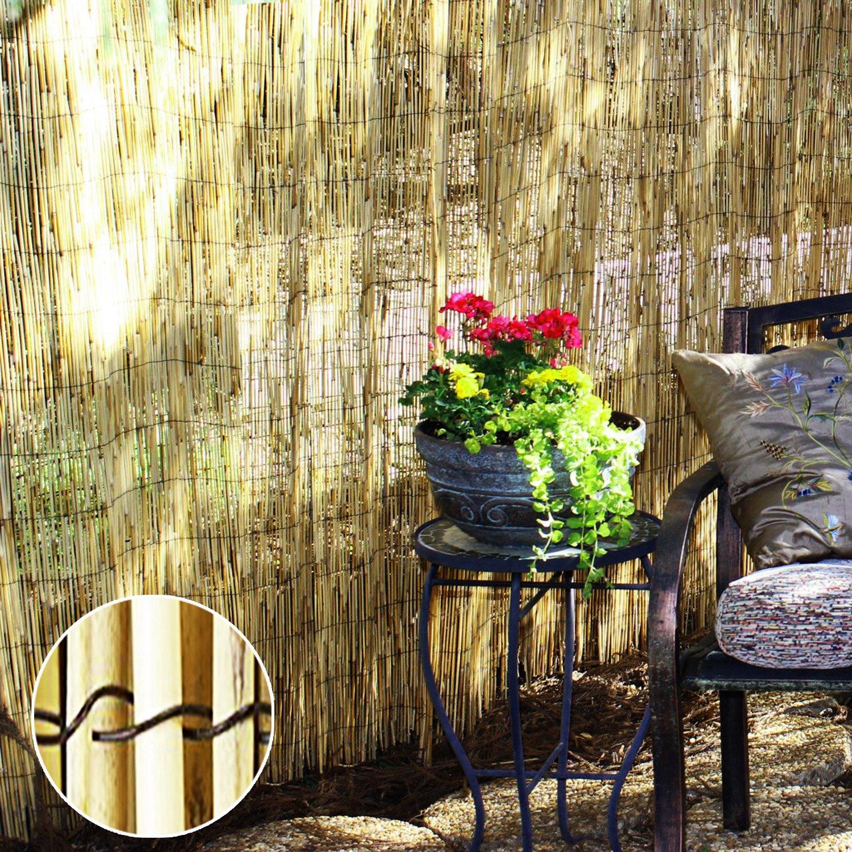 miglior prezzo migliore FB FunkyBuys® Natural Garden Garden Garden Peeled Reed Fence recinzioni e screening roll pannello patio Screen Garden Outdoor (H  1 M (3 '7,6 cm) x L  4 M (13' 5,1 cm))  Sconto del 60%