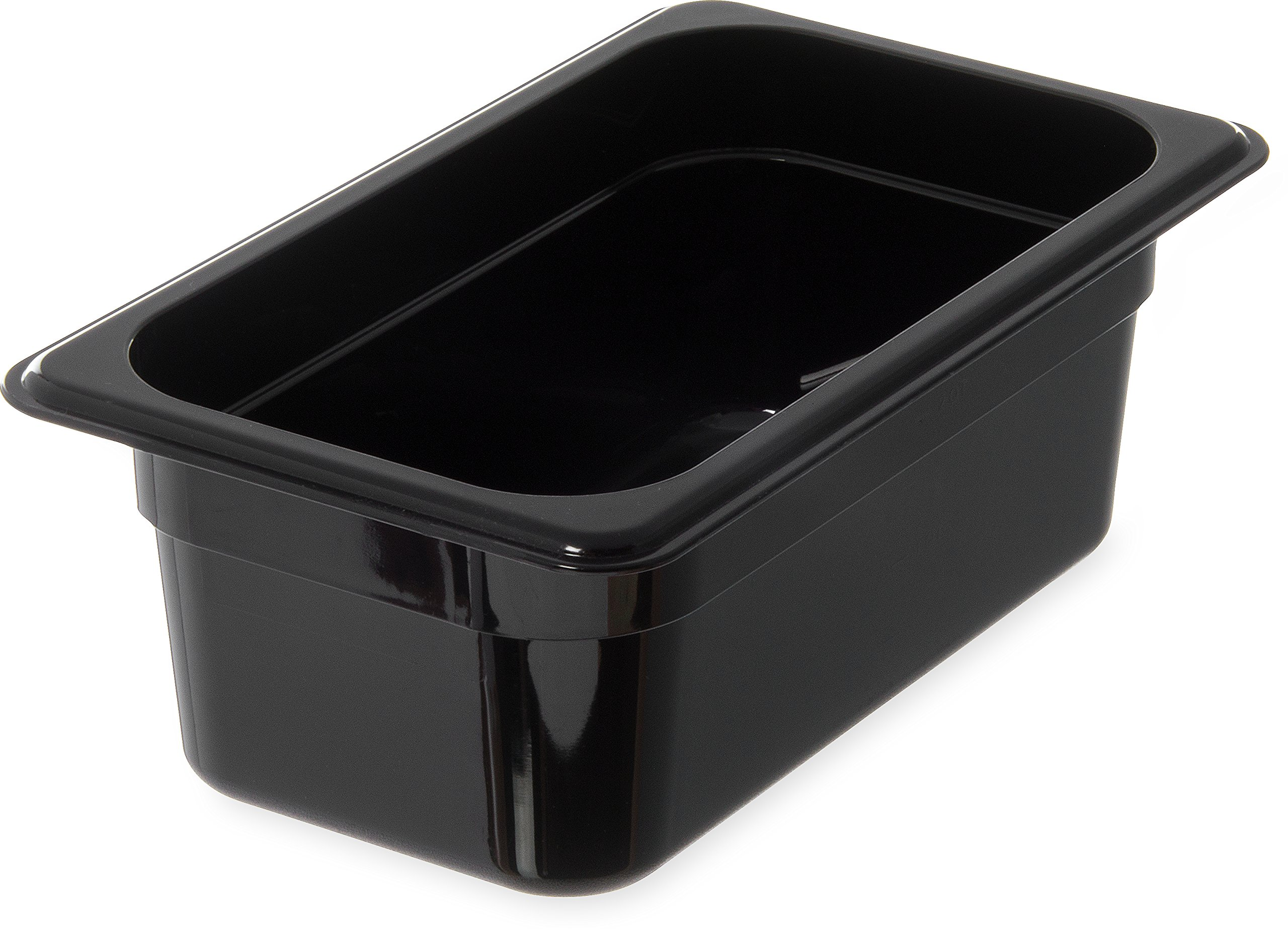 Carlisle 3088103 High Heat Food Pan, 2.8 qt Capacity, 10-1/4'' Length x 6-3/8'' Width x 4'' Depth, Black (Case of 6)