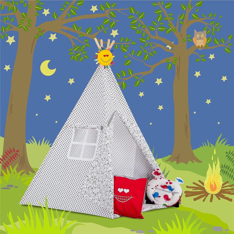 Tipi Zelt Indianerzelt mit Zubehör Geschenke handgemacht von Dreamzzz