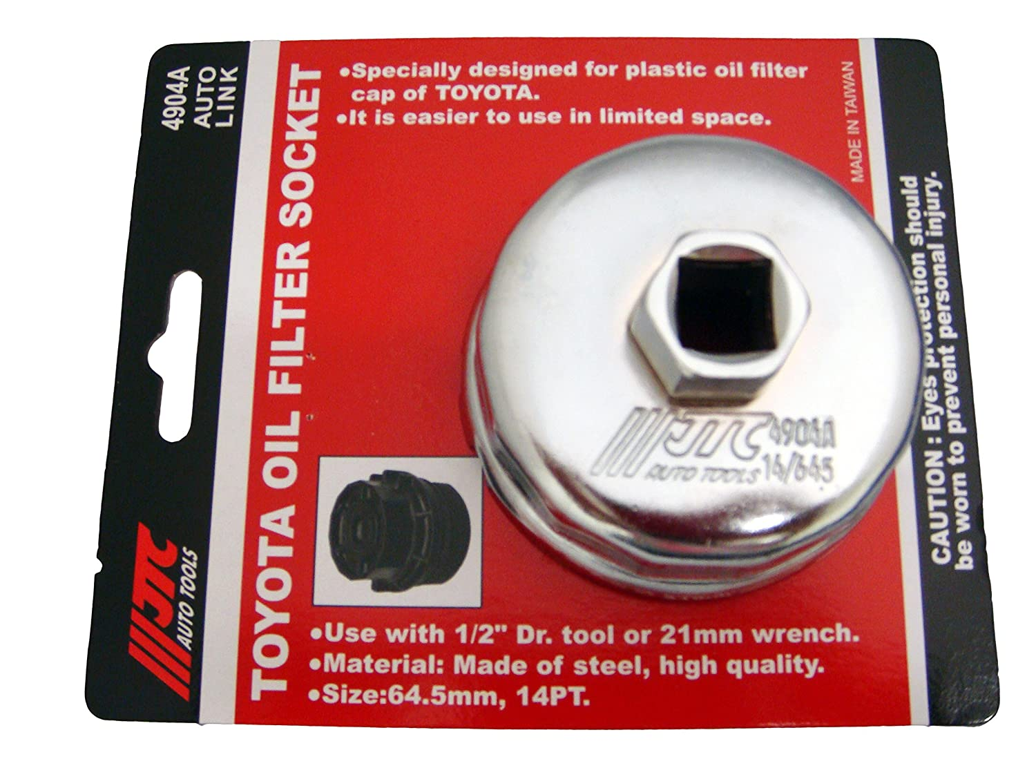 Toyota Oil Filter Socket Wrench Tool 64.5MM 14PT by JTC 4904A