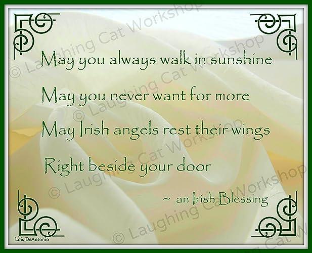 Amazon.com: Irish art God Blessing Irish Angel art print Celtic ...