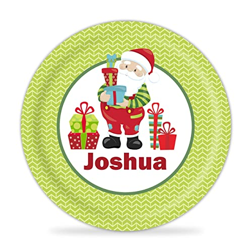 Santa Plate - Santa Christmas Kids Melamine Personalized Plate  sc 1 st  Amazon.com : personalized melamine plates for kids - pezcame.com