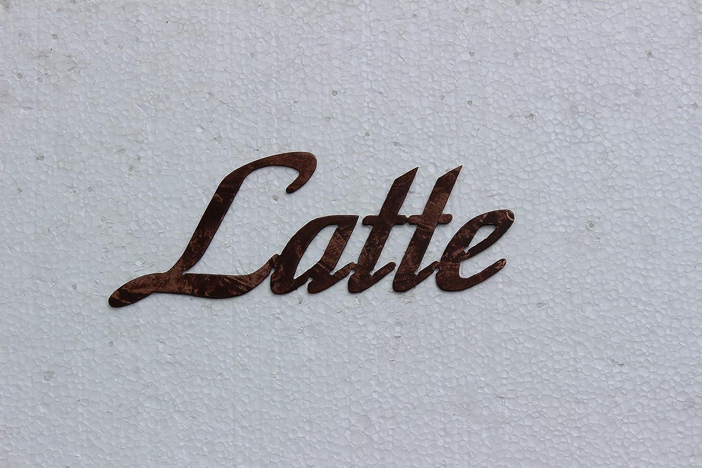 Latte Word Kitchen Decor Antique Copper Metal Wall Art: Amazon.co.uk ...
