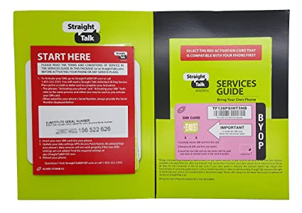 Straight Talk SIM Card for T-mobile or Compatible GSM Phones (REGULAR SIZED  SIM CARD)