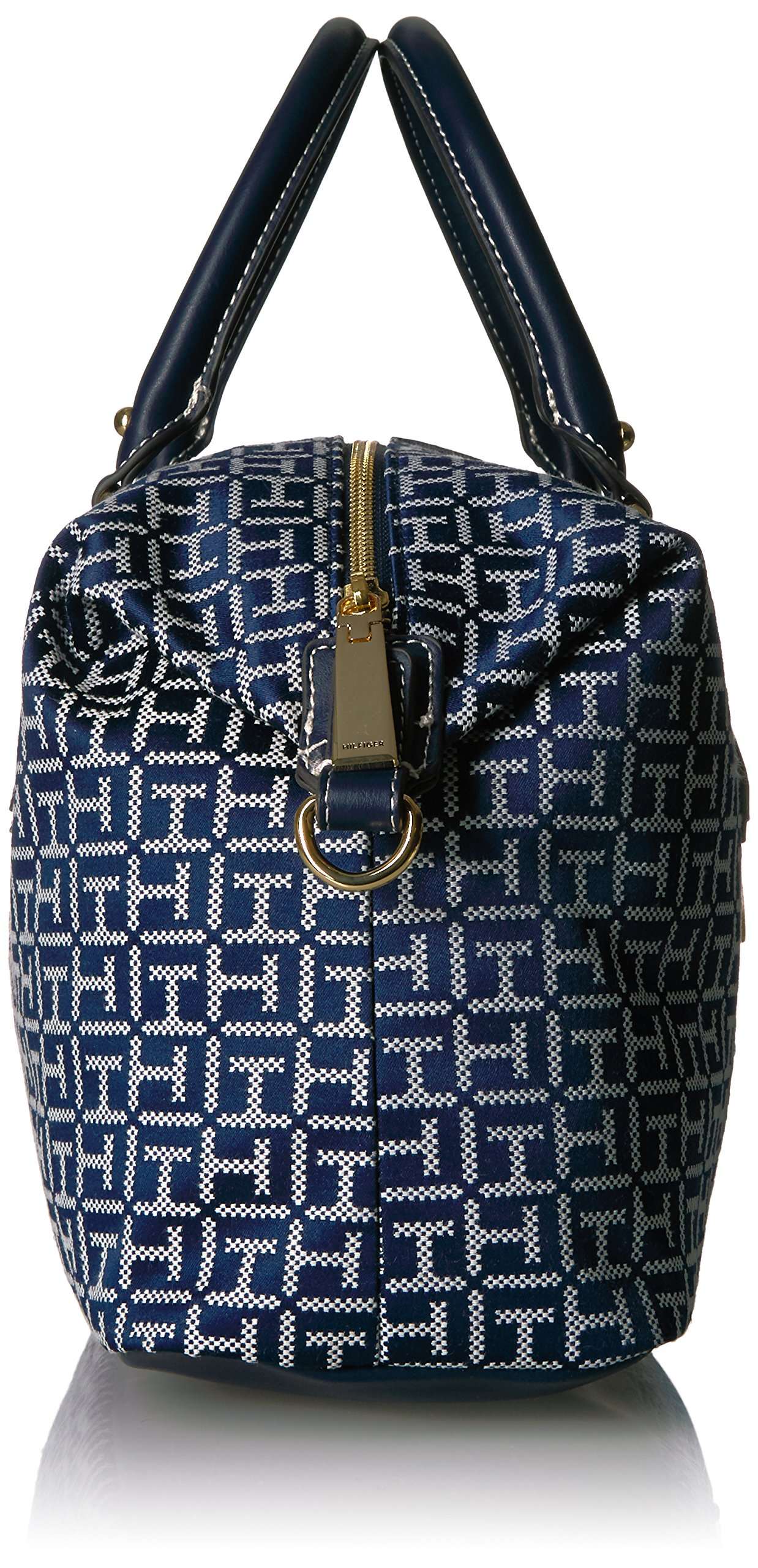 Tommy Hilfiger Handbag for Women Jaden Satchel, Navy/White by Tommy Hilfiger (Image #3)