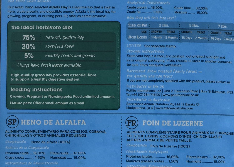 Oxbow Heno de Alfalfa, 425 g