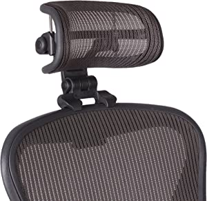 The Original Headrest for The Herman Miller Aeron Chair H3 Lead | Colors and Mesh Match Classic Aeron Chair 2016 and Earlier Models