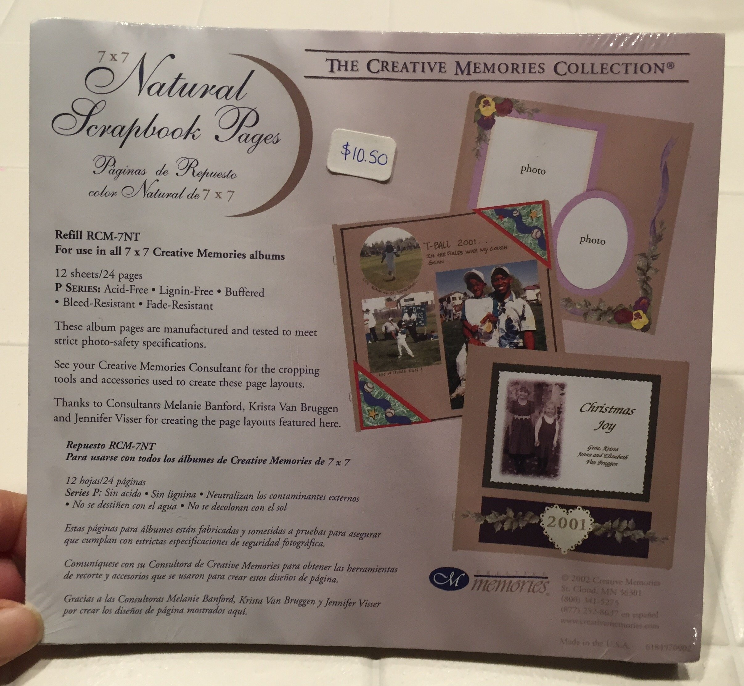 The creative memories 7 x 7 scrapbook pages by Creative Memories