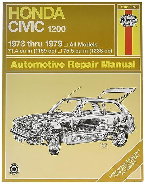 amazon com haynes honda civic 1200 73 79 repair manual 42020 rh amazon com mitchell automotive technical manuals automotive tech manuals