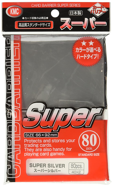 Silver 92 x 66mm 80 Piece Akashiya Barrier Super Card Sleeves