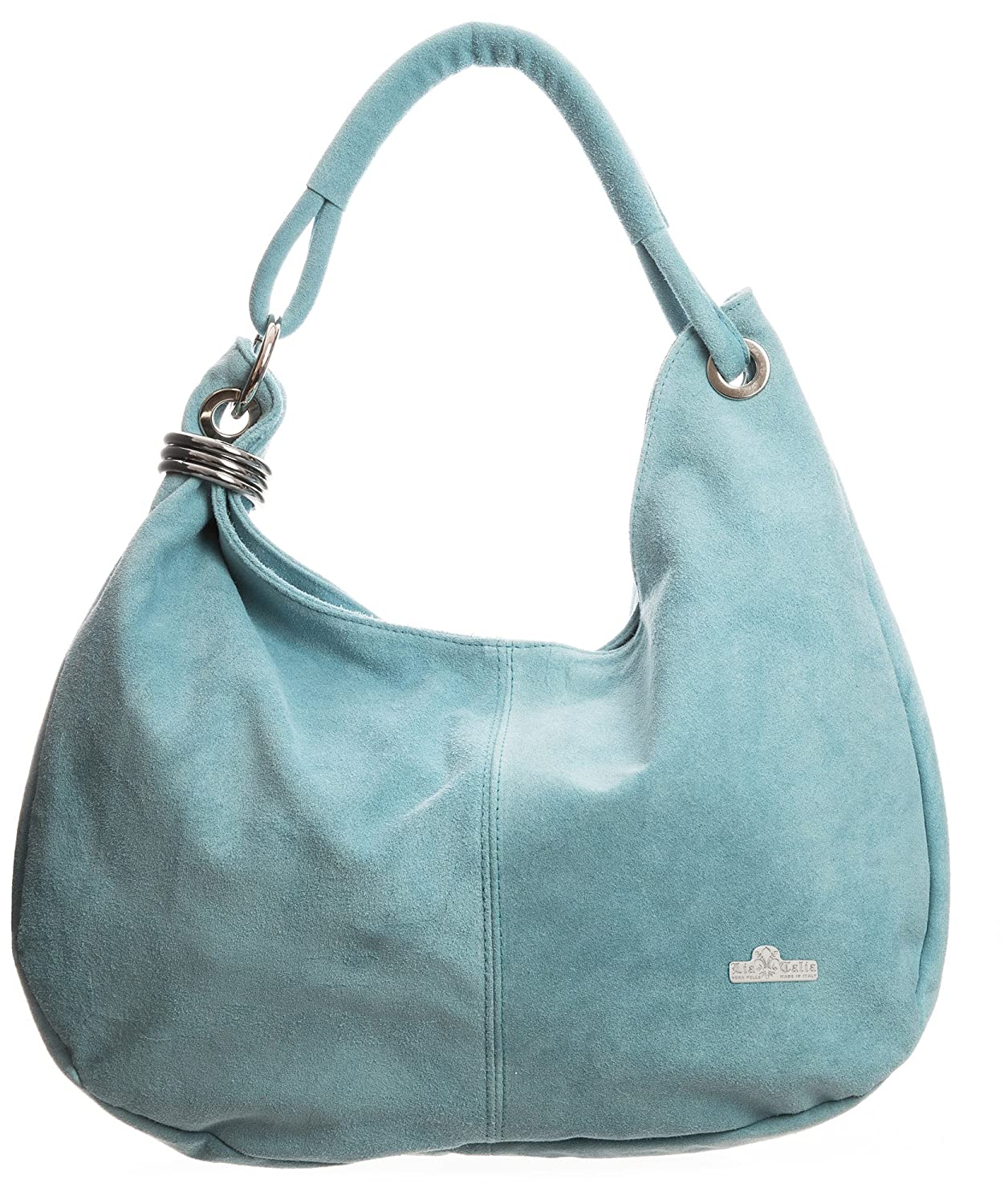 e7366e450b LIATALIA - Womens Girls Large Real Italian Suede Leather Single Strap Hobo  Boho Slouch Handbag Purse - FIONA  Baby Blue   Amazon.co.uk  Shoes   Bags