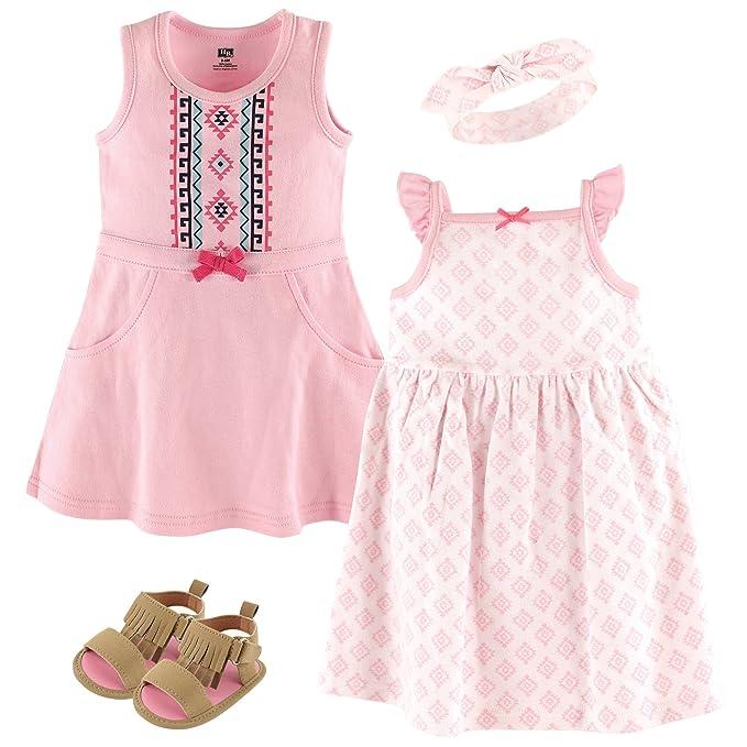 1f5061b41 Amazon.com: Hudson Baby Summer Dress, Headband and Shoe Set, Aztec ...