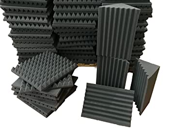 KeyHelm - Kit de paneles insonorizantes - Paquete 10 pirámide 50x50x6 D25 + 4 Basstraps Ranurado 25x25x50 D25: Amazon.es: Instrumentos musicales