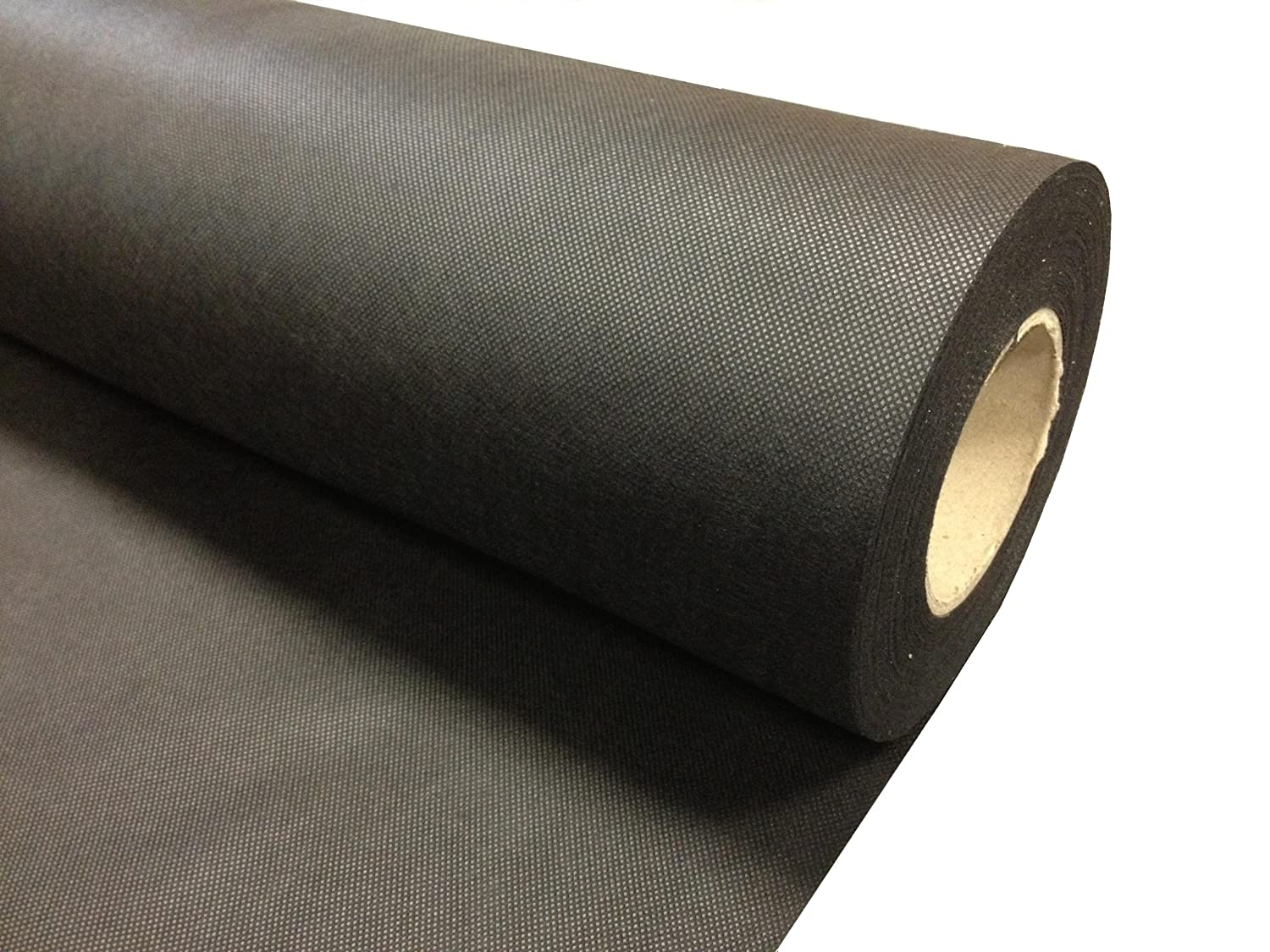 WEED CONTROL FABRIC, SPUNBOND, BLACK GROUND COVER 1m X 100m LANDSCAPE MATERIAL