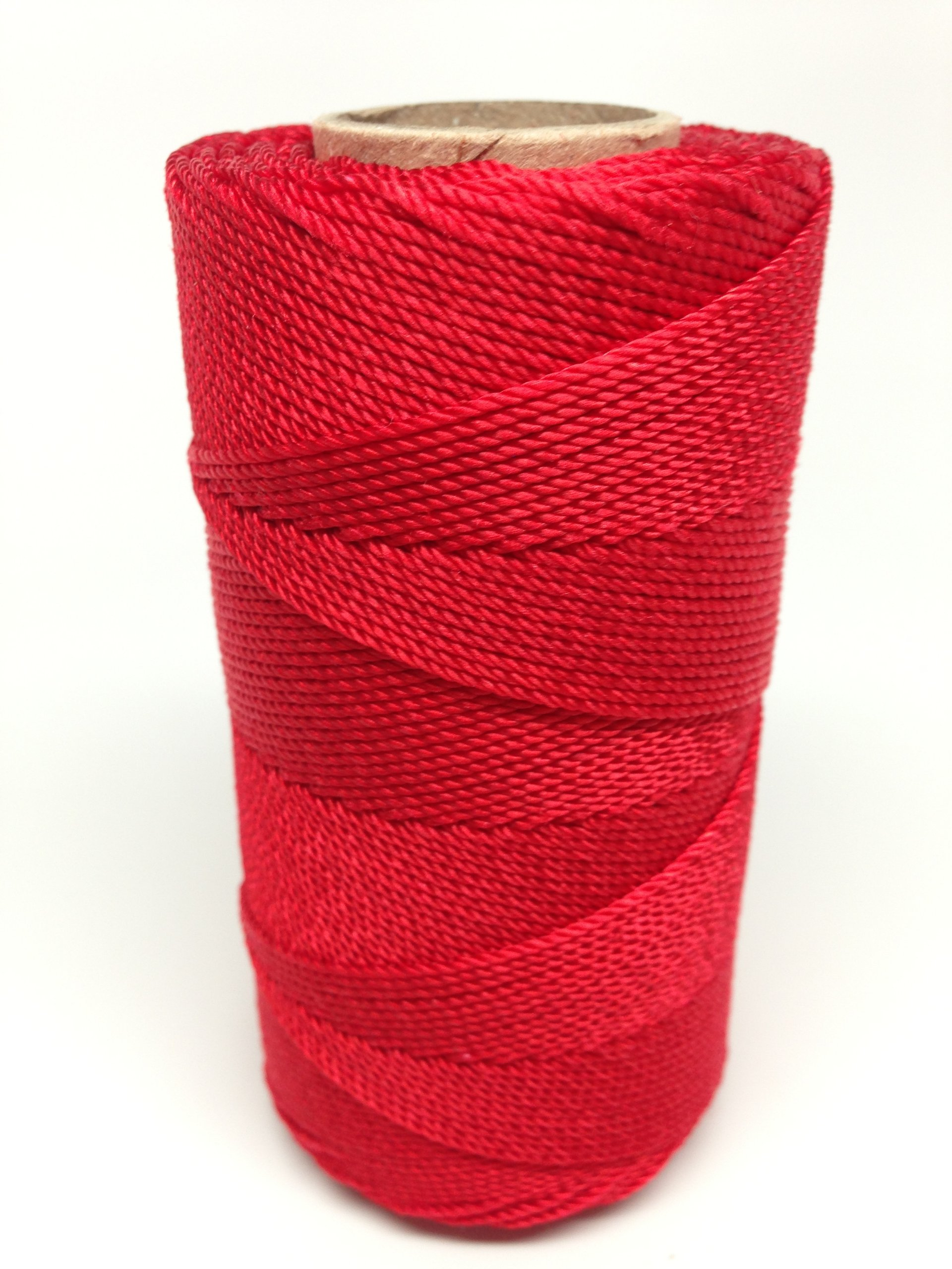Rosary Twine #9 (1.07 mm) - SGT KNOTS - 3 Strand Twisted Nylon Crafting Twine Made for Rosaries - Easy to Work With, Soft, Even Consistency, Holds Knots - for Classes, Crafts, DIY (500 ft - Red)