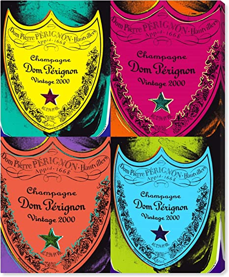Amazon Com The Oliver Gal Artist Co Drinks And Spirits Wall Art Canvas Prints Warholesque Dom P Home Décor 20 X 24 Red Yellow Posters Prints