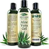 Green Leaf Naturals Aloe Vera Gel for Skin, Face and Hair, 8-Ounce