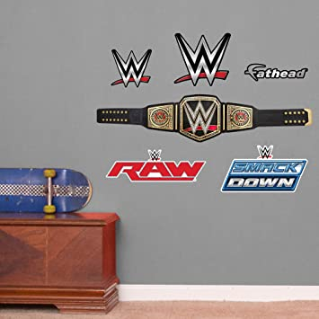 Fathead WWE Title Belt Junior Peel and Stick Wall Decals