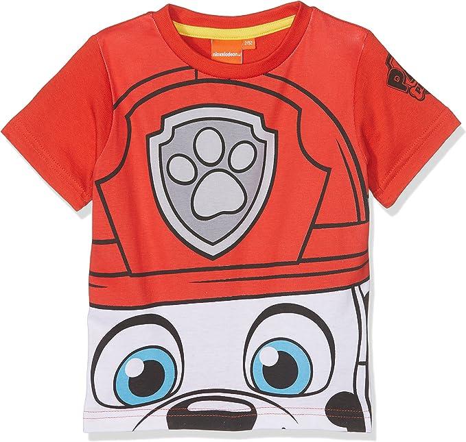 Paw Patrol PWSB27118 Camiseta, Rojo (Red), 8 años (Tallas De Fabricante: 8 Años) para Niños: Amazon.es: Ropa y accesorios