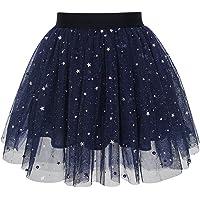 Sunny Fashion Chicas Falda Azul Marino Perla Estrellas Espumoso Tutu Bailando 4-12 años