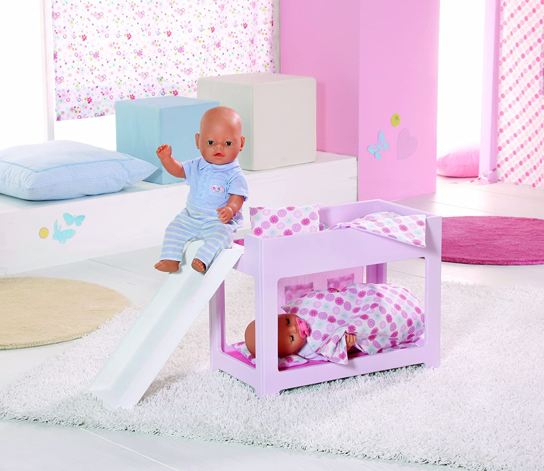 Zapf 809563 Baby Born Hochbett Mit Rutsche Amazon De Spielzeug