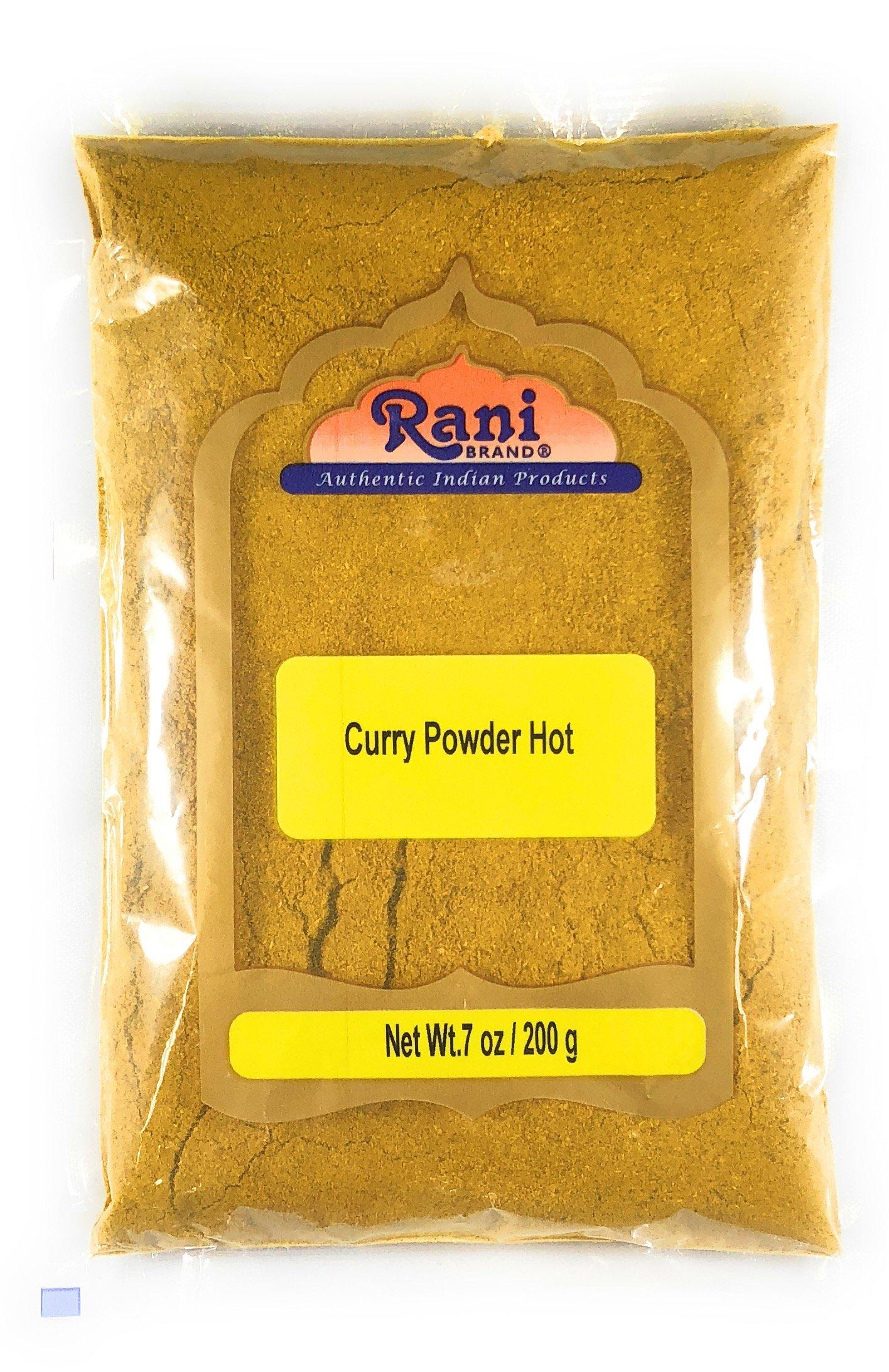 Rani Curry Powder Hot Natural 11-Spice Blend 200g (7oz) ~ Salt Free | Vegan | Gluten Free Ingredients | NON-GMO