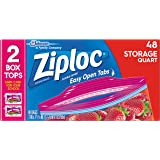 Ziploc Storage Bags, Quart , 48 Count