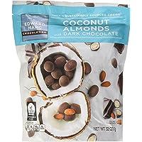 Edward Marc Chocolatier Coconut Almonds Dark Chocolate, 32 Oz