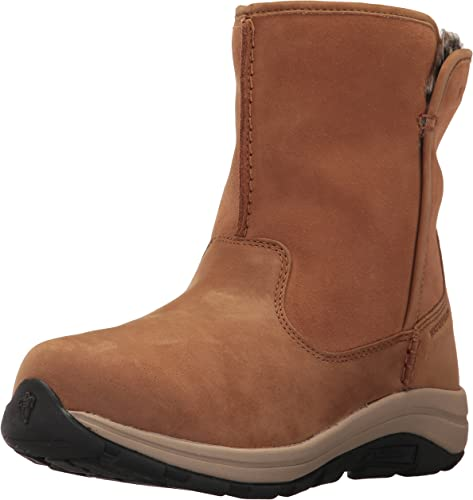 Columbia Women's Bangor Slip Omni-Heat Ankle Boot, elk, Oxford tan, 10.5 Regular US