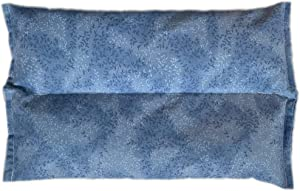 Ultra Premium All Natural Microwavable Aromatherapy Heating Pad- Organic Flaxseed Cherry Pit Filler (Sky Blue)