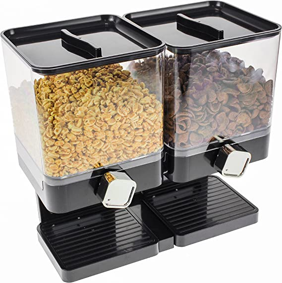 Müslispender Portionierer für Müsli Cerealienspender Cornflakesspender 4 x 3,5 L