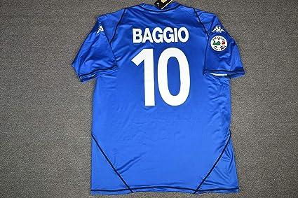 caa884993c5 Amazon.com : Retro Baggio#10 Brescia Home Soccer Jersey Full Calcio ...