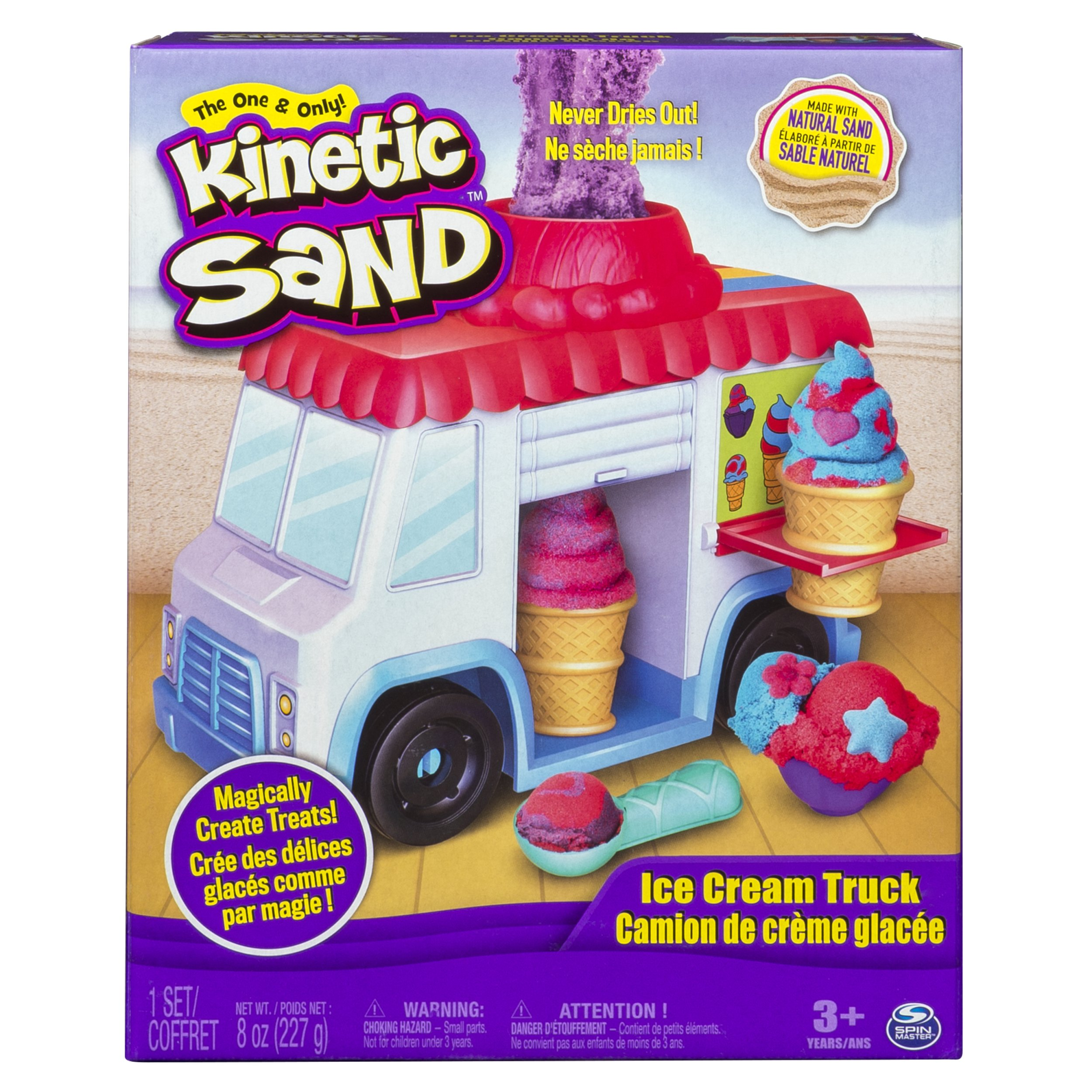 The One and Only Kinetic Sand  – Ice Cream Truck with 8oz of Kinetic Sand